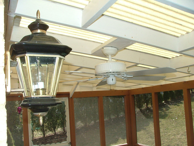 back porch ceiling/fan
