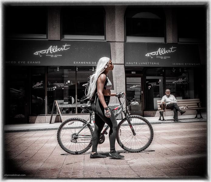 Cyclist on Sparks Street