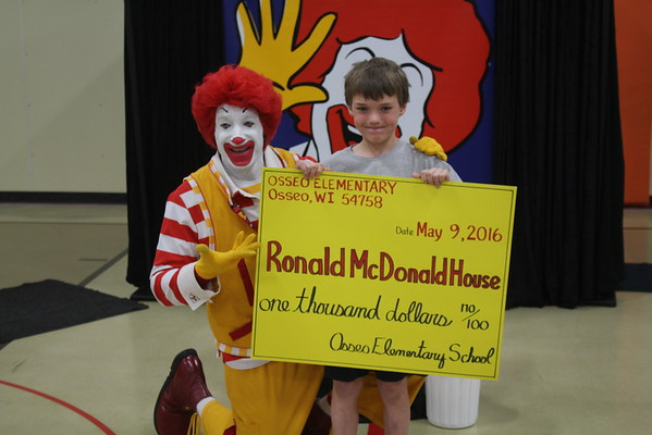 Ronald McDonald visits OE and FE