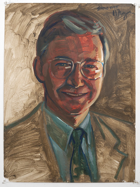 Portrait study - Steve v2; acrylic on paper, 22 x 30 in, 1995