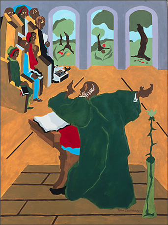 "Jacob Lawrence, ""Eight Studies for the Book of Genesis No. 3"" (1989)"
