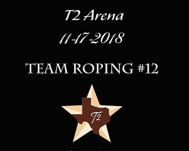 11-17-2018 T2 Arena 'Team Roping #12'