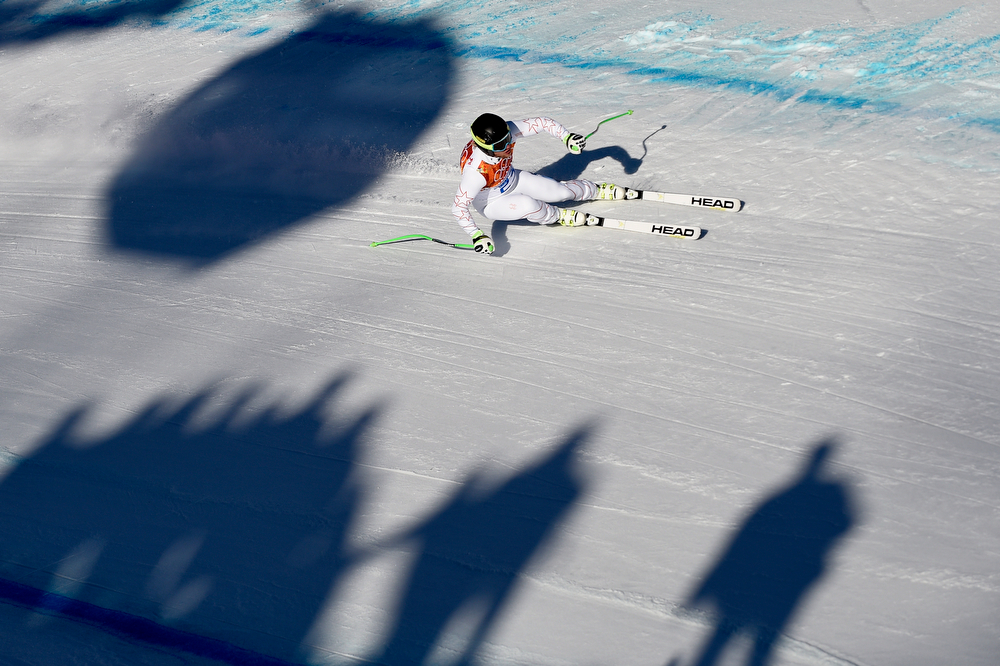 . Andrew Weibrecht of the USA competes during the Alpine Skiing Men\'s Super Combined at the Sochi 2014 Winter Olympic Games at Rosa Khutor Alpine Centre on February 14, 2014 in Sochi, Russia. (Photo by Alain Grosclaude/Agence Zoom/Getty Images)