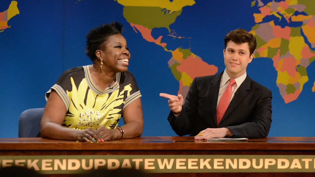 """. <p><b> NBC officials faced withering criticism over a �Saturday Night Live� bit in which a cast member made jokes about � </b> <p> A. Slavery <p> B. Cannibalism <p> C. The show�s half-dozen remaining viewers <p><b><a href=\'http://www.nydailynews.com/entertainment/tv/leslie-jones-sparks-outrage-snl-slavery-jokes-article-1.1779716\' target=\""""_blank\""""> LINK </a></b> <p>   (Screen grab from NBC/Saturday Night LIve)"""