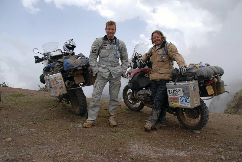 The infamous pair again - Long Way Down - Ewan McGregor and Charley Boorman on their BMW R 1200 GS (07/2007)