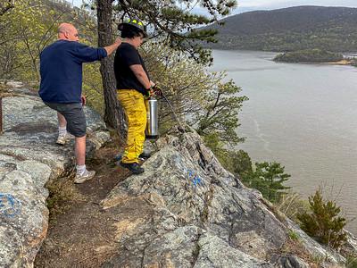 4-24-2021 Brush Fire, Bear Mt Bridge Road