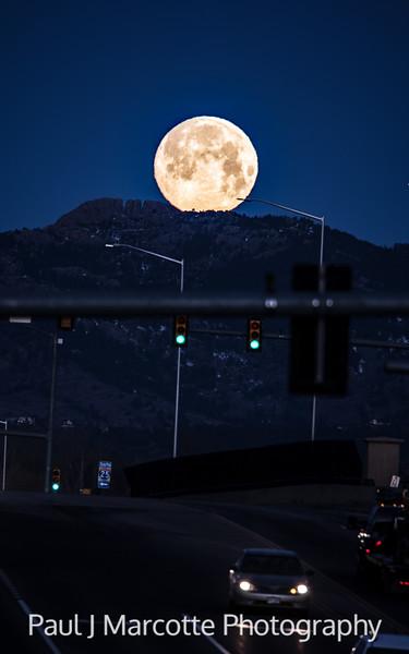 Full Horsetooth Moon