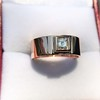0.40ct Carre Cut Rose Gold Band 13