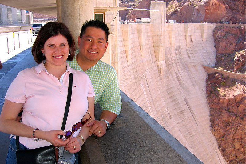 Darcie and Cly do the Hoover dam tour.