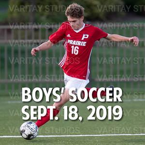 Prairie Boys Soccer, Sept. 18, 2019