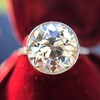 3.45ct Edwardian Old European Cut Diamond Bezel Ring 19