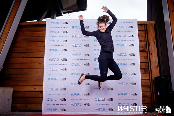 2017 North Face Whistler Half Marathon Photo booth