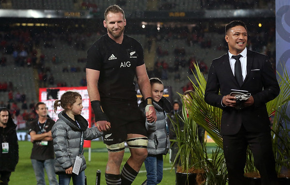 Kieran Read (c) during game 10 of the British and Irish Lions 2017 Tour of New Zealand, the third Test match between  The All Blacks and British and Irish Lions, Eden Park, Auckland, Saturday 8th July 2017 (Photo by Kevin Booth Steve Haag Sports)  Images for social media must have consent from Steve Haag