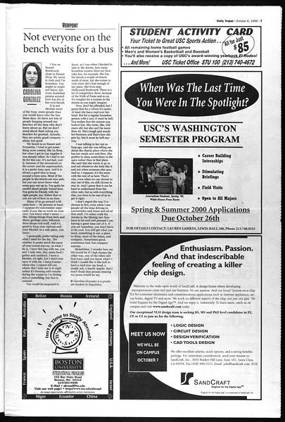 Daily Trojan, Vol. 138, No. 26, October 06, 1999