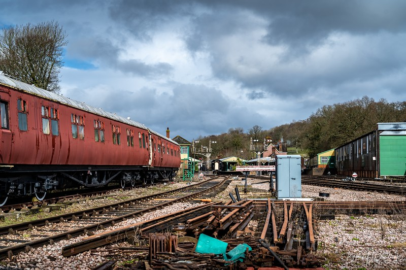 A view of the approach to Horsted Keynes Station