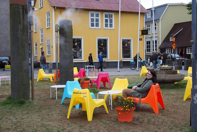 Geothermal vents in downtown Reykjavik