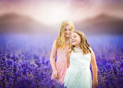 Brook & Megan in the Lavender fields