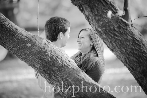 Emily & Jacob B/W Engagement Photos
