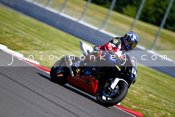#17 - Black White Red Blue GSXR