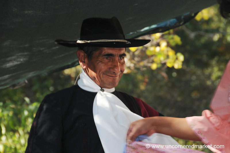 A Sly Smile in an Argentine Folk Dance