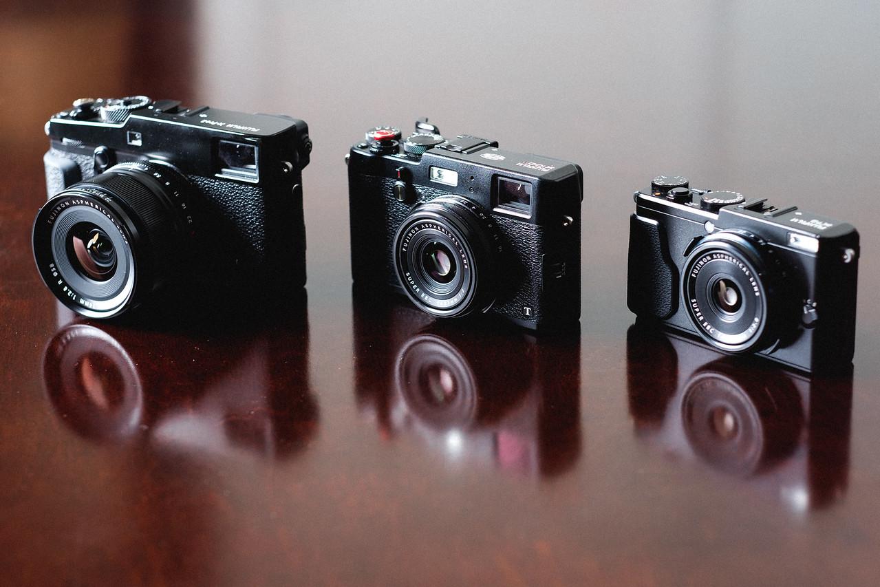 Fujifilm X-Pro 2 vs X100T vs X70 Size Comparison