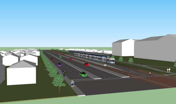 Northwest LRT to City Limits