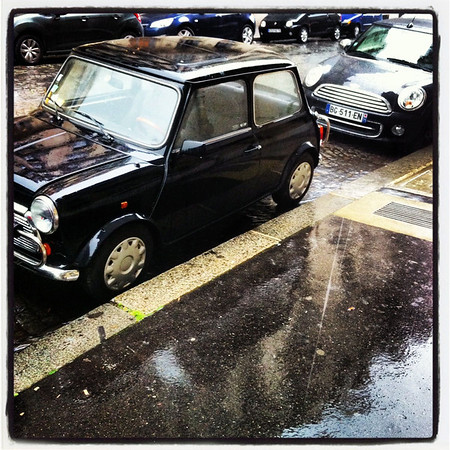 paris, rain, mini cooper, two boldly go photography