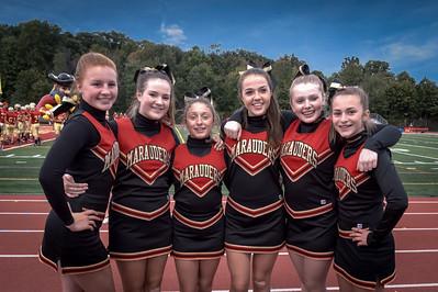 Mt Olive Varsity Football - Sept 25, 2015 Cheerleaders
