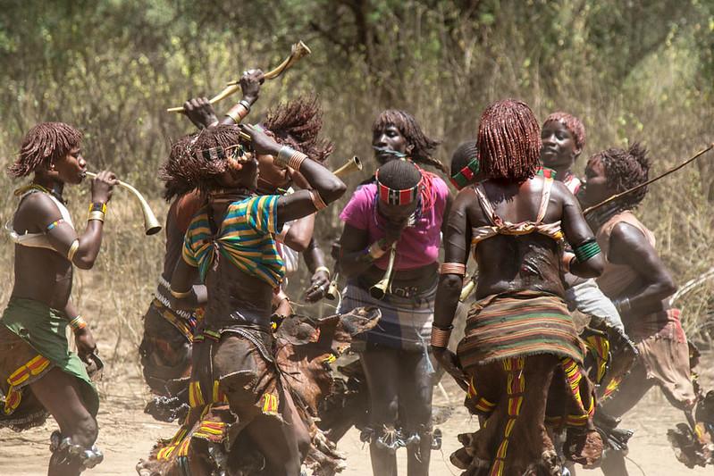 Dancing Hamer Tribe in the Omo Valley Ethiopia