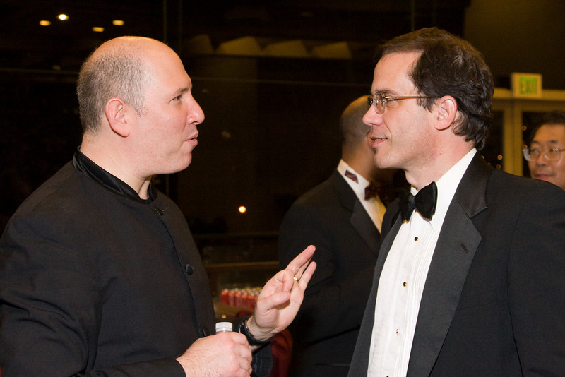 Jed Gaylin and Andy White -- HSO 25th anniversary post-concert Gala