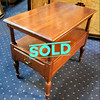Mahogany Double Deck Side Table