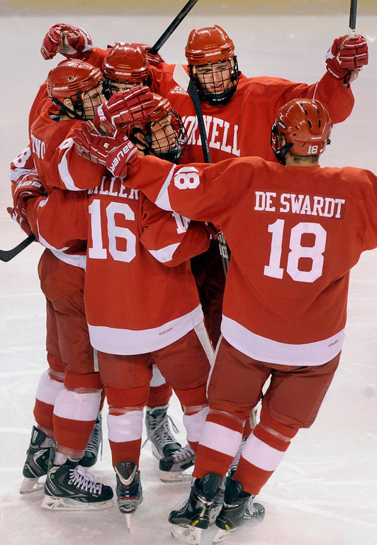 . Cornell got the first goal only 45 seconds into the first period. The University of Denver hockey team hosted Cornell at Magness Arena Saturday night, January 5, 2013. Karl Gehring/The Denver Post