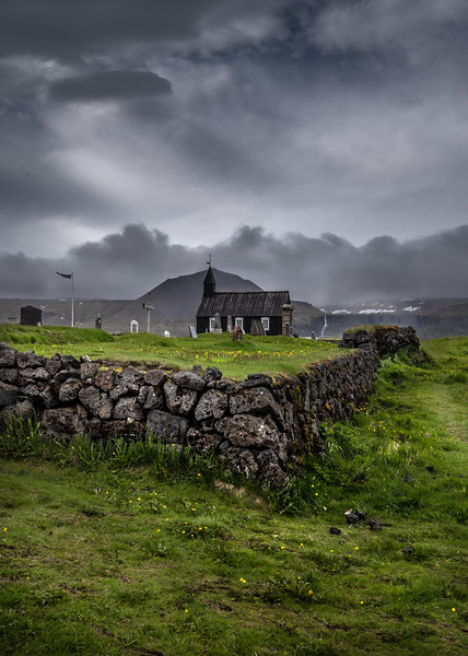 Grave Yard Wall in Iceland  Photography by Wayne Heim
