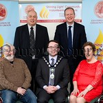 Looking forward to the 2015 Shining Light Community Volunteering Awards in Newry. Fom left: Peter McLoughlin, Graham family representative; David Cunningham, Chair of Confederation of Commun ...