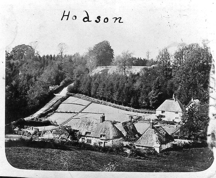 Early photo of Hodson Bottom..note the changes to the cottages and land