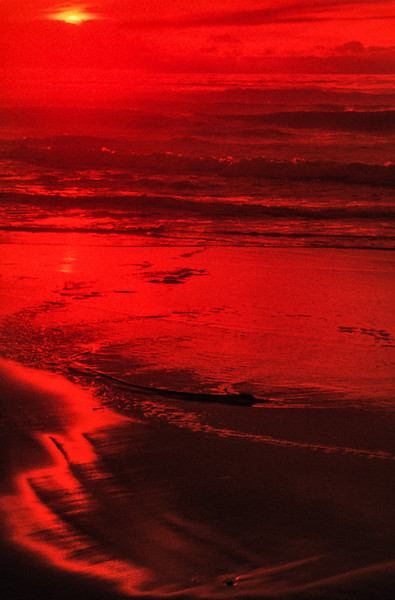 Sunset 2, San Gregorio State Beach, California, 1978