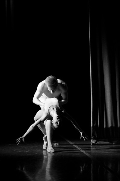 """OBT Principal Dancer, Anne Mueler and Soloist, Adrian Fry in Christopher Stowell's """"The Rite of Spring."""""""