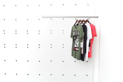 Hanger and Shelf  Fashion Styling of Shirts, Jeans, Jackets and Shoes