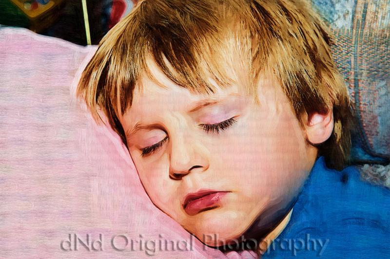 073 Ian Sleeps Over July 2008 - Fell Asleep On Couch (virt paint oil).jpg