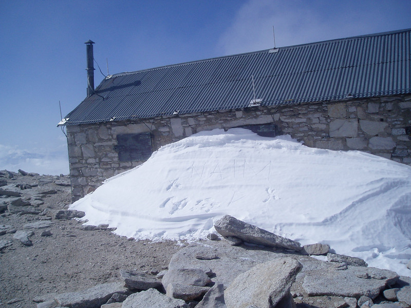 Abandoned house at the summit plateau