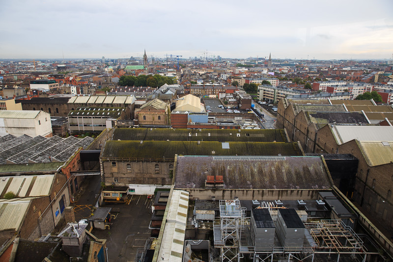 View from Guinness Storehouse rooftop.  It was crowded and we spent a couple hours here. Lunch was pretty good here.