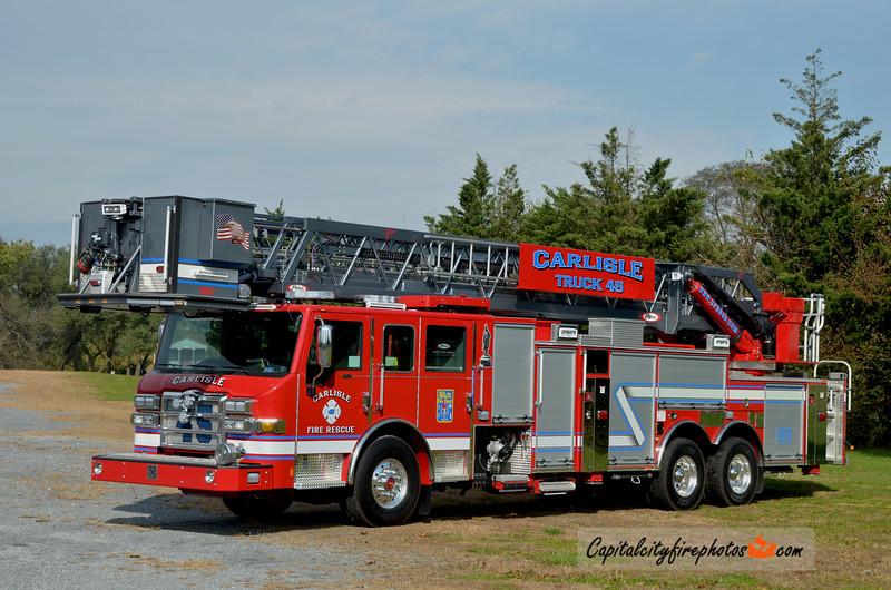 "Carlisle Fire Rescue Truck 45: 2018 Pierce Velocity ""PUC"" 1500/300 100'"