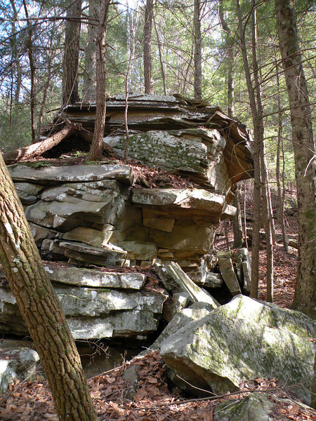 An interesting stack of rocks on the path