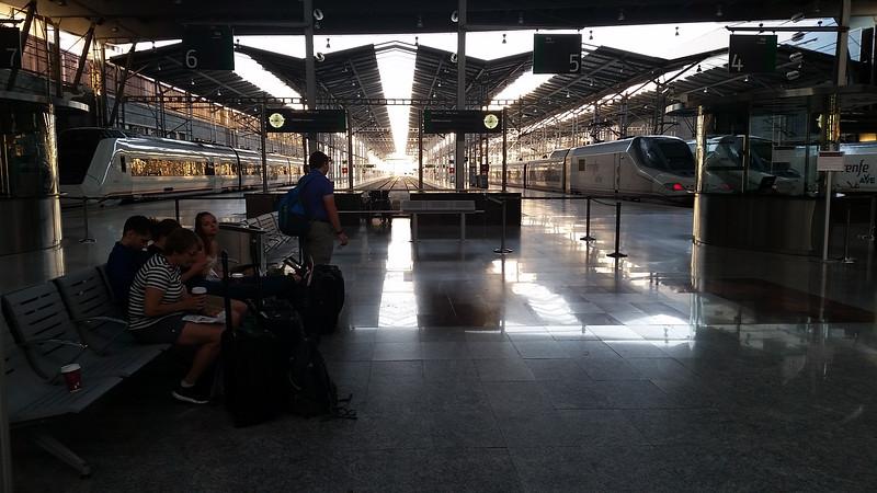 We took high speed train to Barcelona, 6 hours