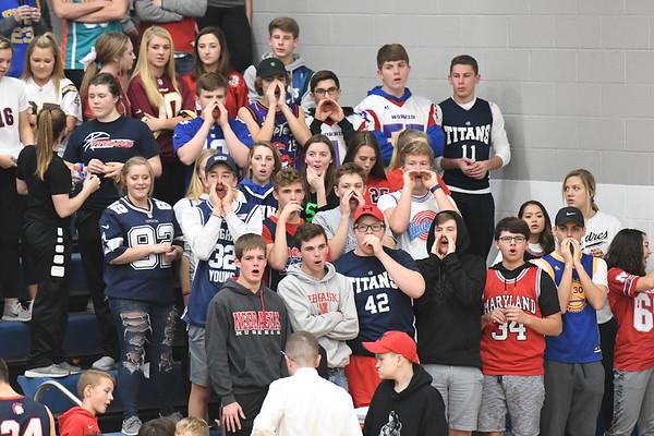 Student Crowd -  Plattsmouth Basketball games