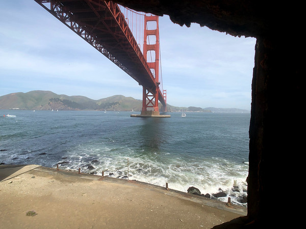From window at Fort Point