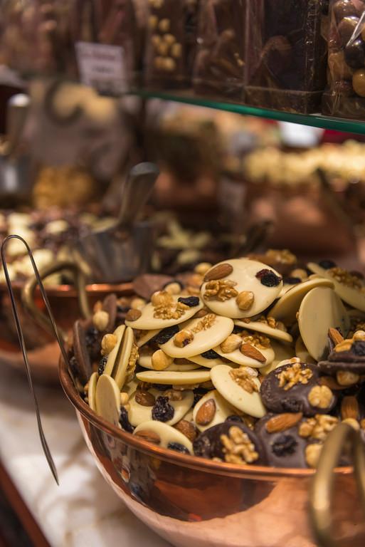 Belgian Chocolates on display