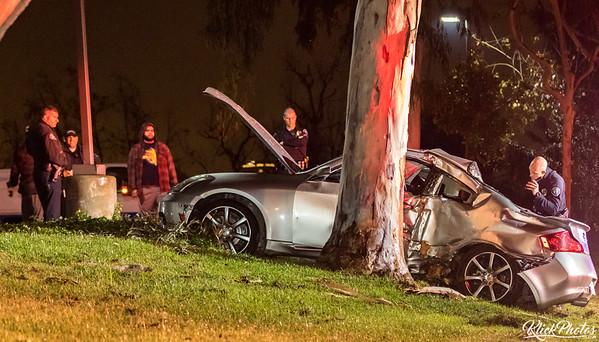 Irvine Vehicle vs. Tree - December 30th, 2016