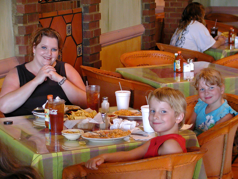 Sunday dinner at a mexican restaurant.