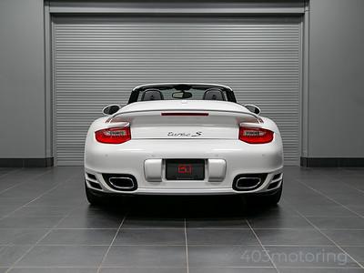 '11 911 Turbo S Cabriolet - Carrara White